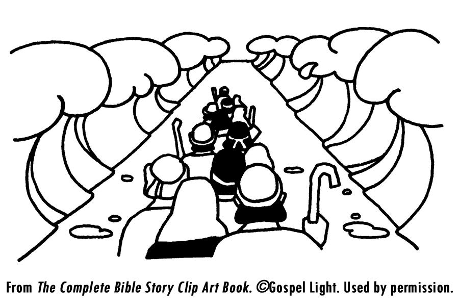 Free Coloring Page Of Israelites Crossing The Jordan River