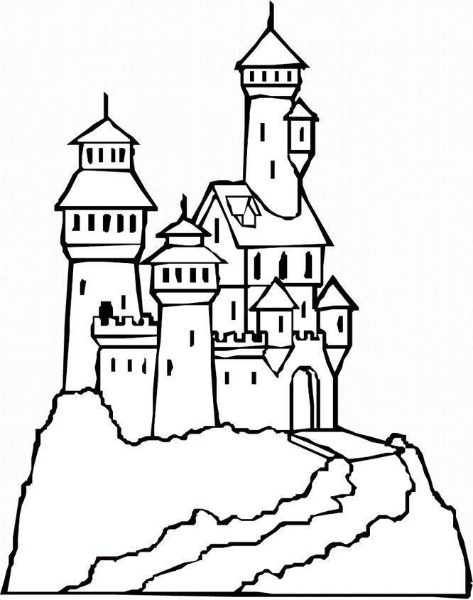 Hogwarts Castle Coloring Pages : hogwarts, castle, coloring, pages, Printable, Castle, Coloring, Pages,, Download, Clipart, Library
