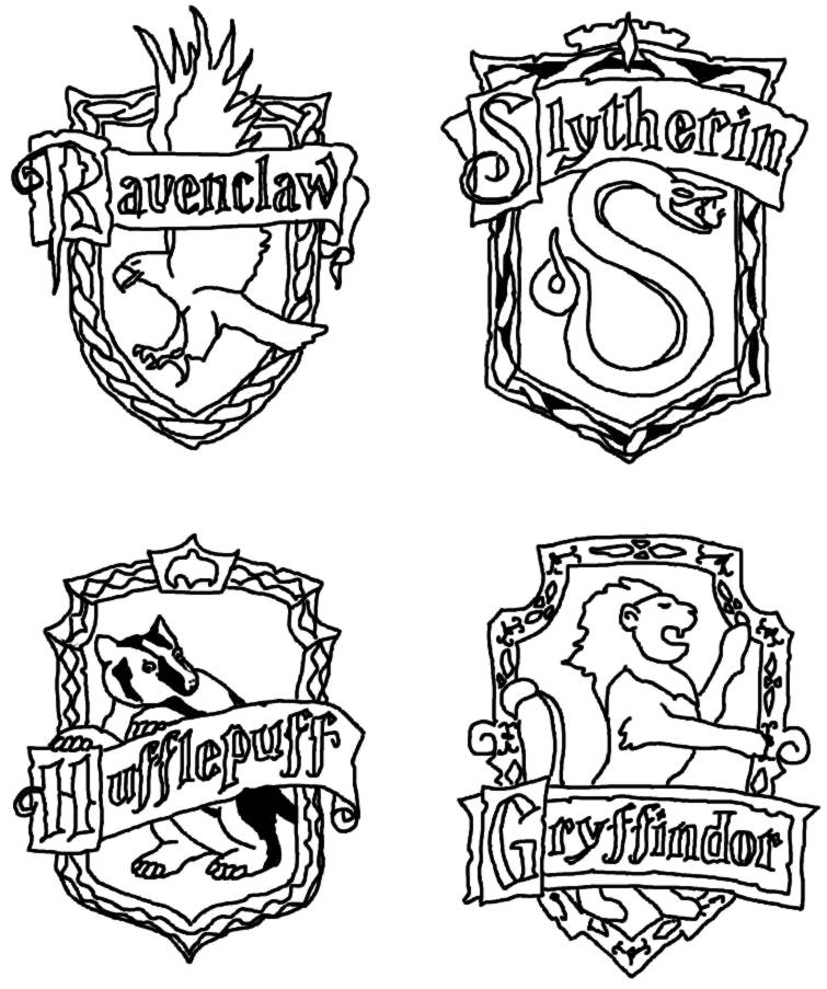 Free Harry Potter Coloring Pages Hogwarts Crest, Download