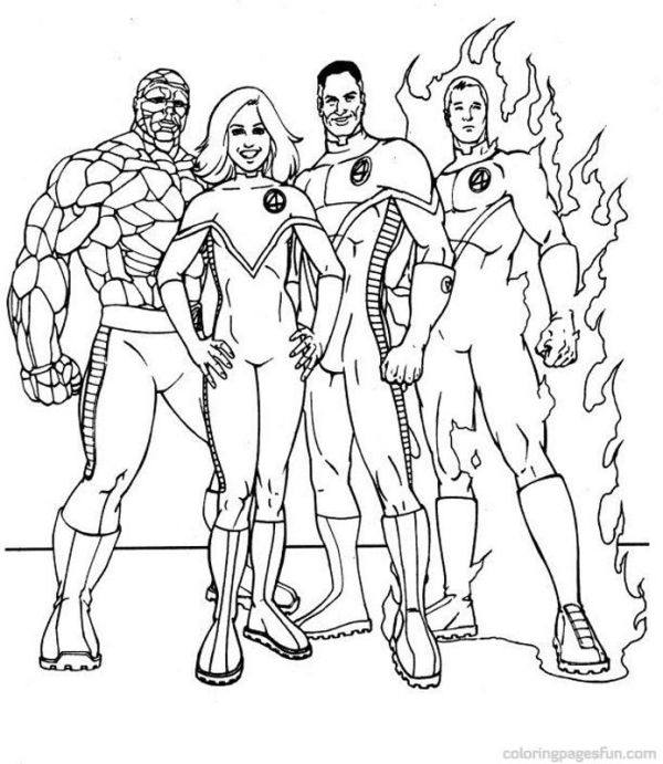 fantastic four coloring pages # 2
