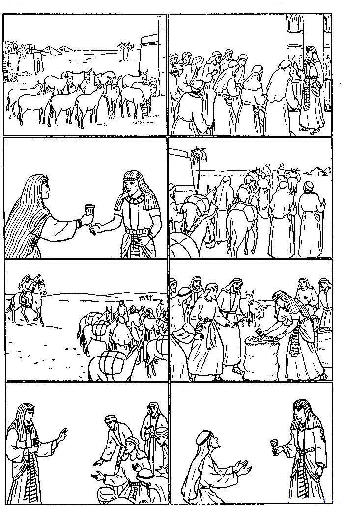Joseph Interprets Pharaoh's Dream Coloring Page : joseph, interprets, pharaoh's, dream, coloring, Joseph, Pharaoh, Coloring, Page,, Download, Clipart, Library