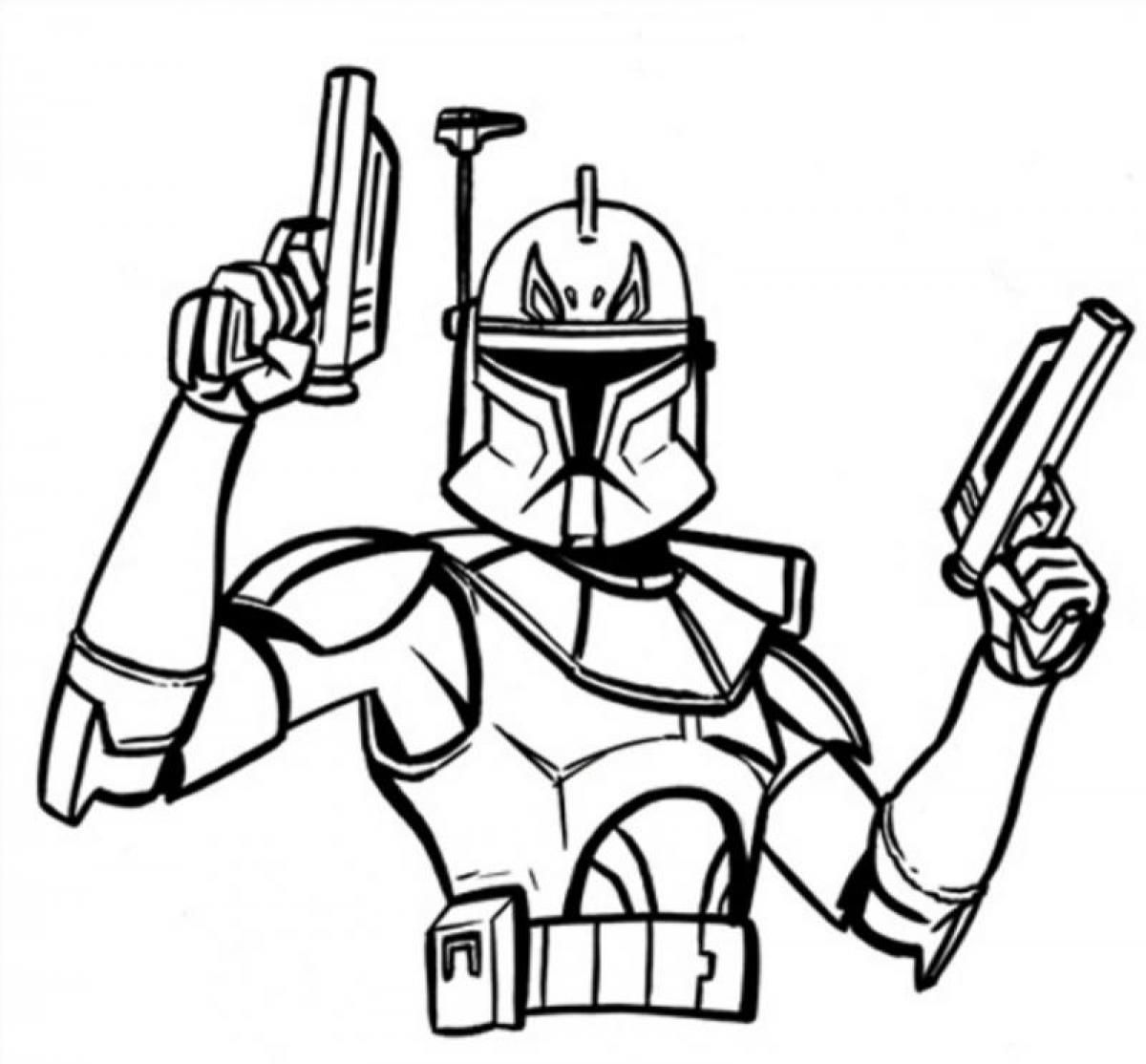 Free Star Wars Coloring Pages Captain Rex Download Free