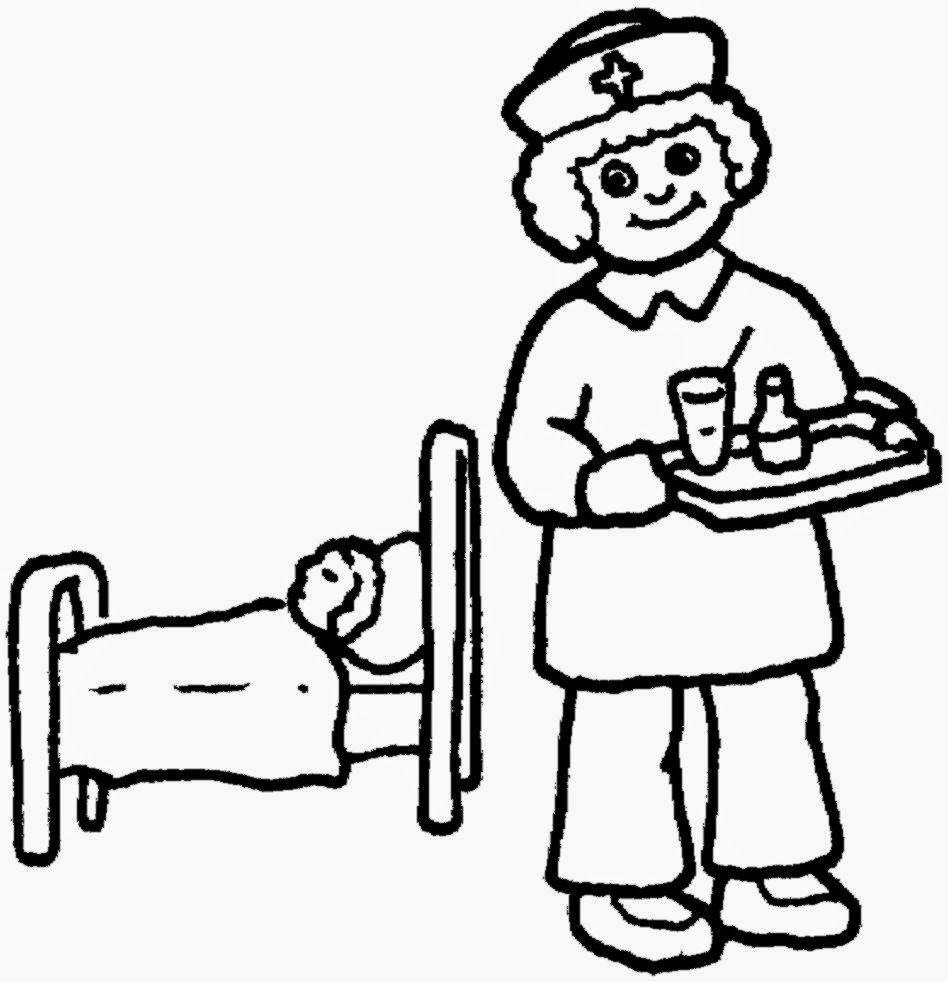 Free School Nurse Coloring Pages, Download Free Clip Art