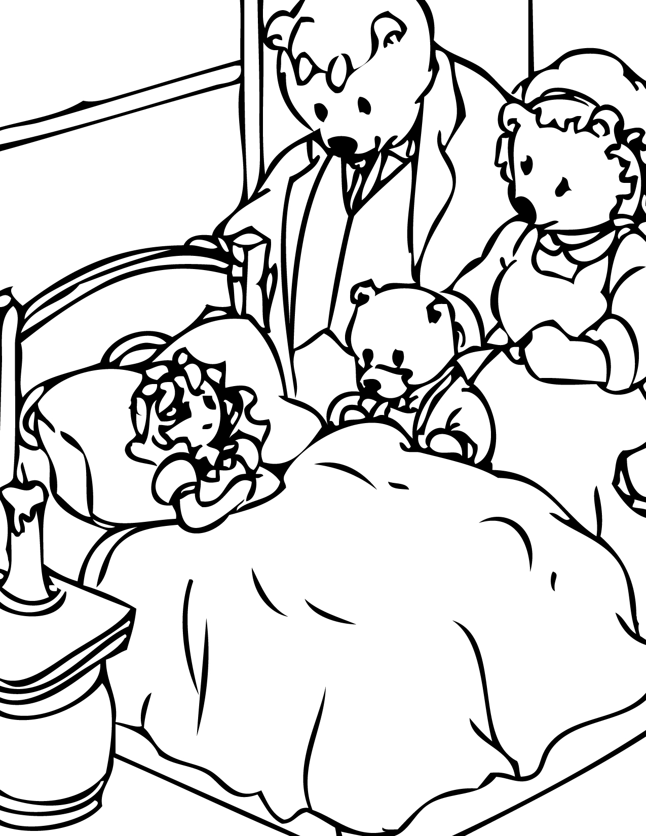 Free Goldilocks And The Three Bears Coloring Pages