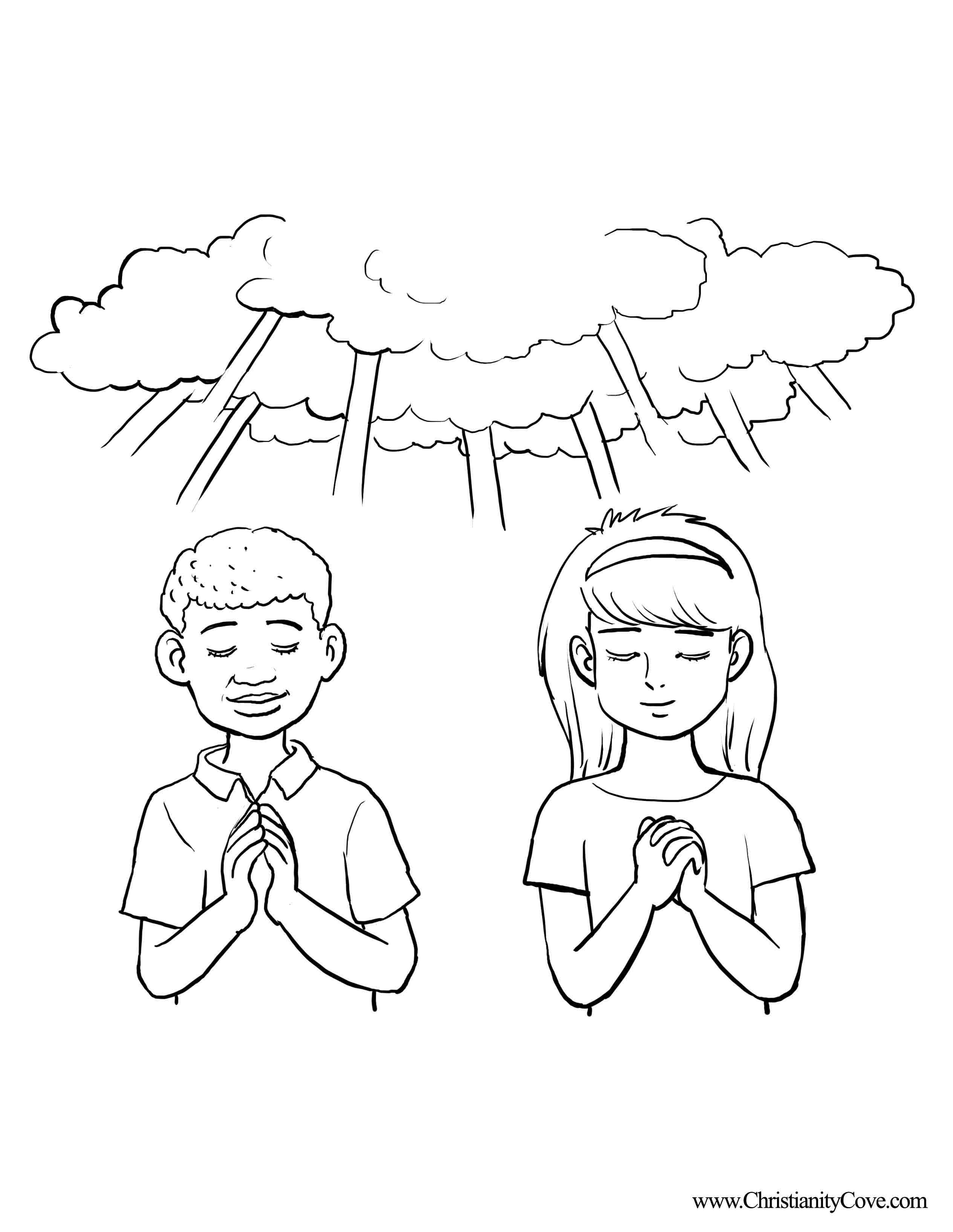 Free The Lord S Prayer Coloring Pages For Children