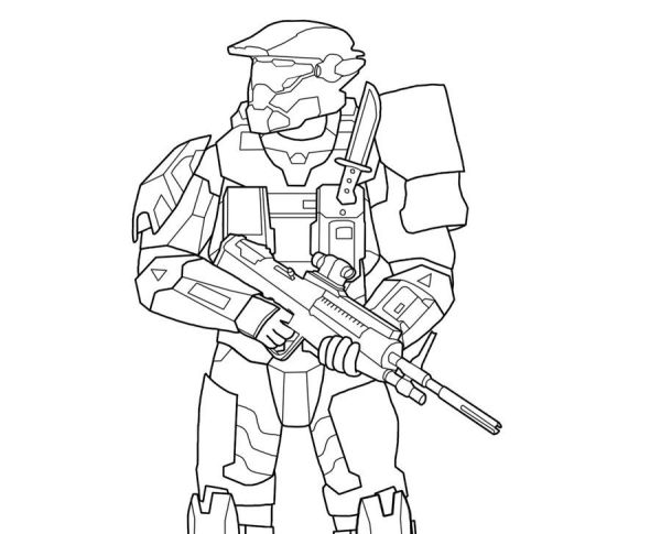 coloring pages halo # 28