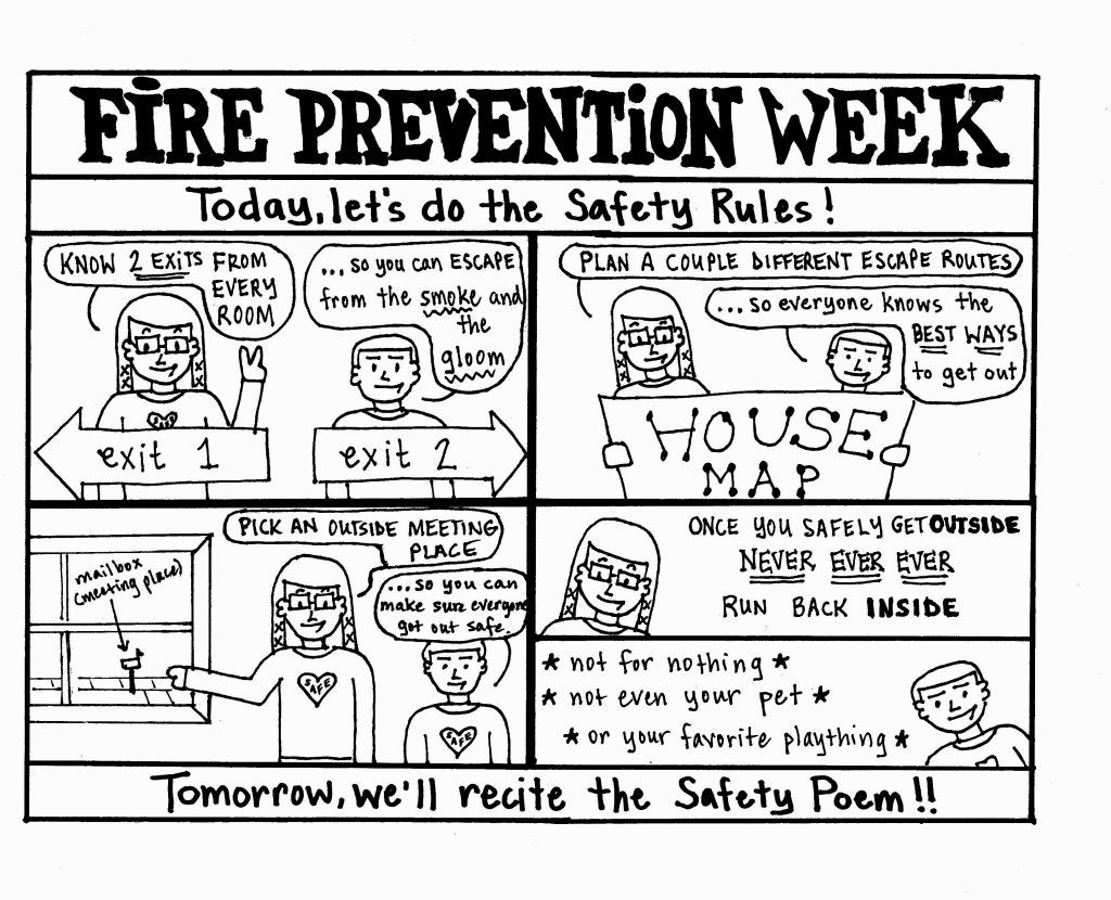 Free Fire Safety Book Coloring Page Download Free Clip