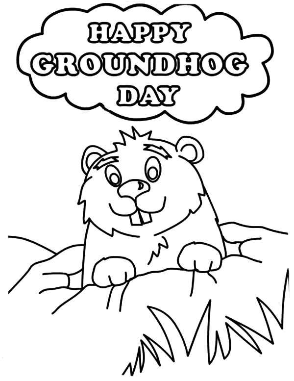 Printable Groundhog Coloring Page Clip Art Library