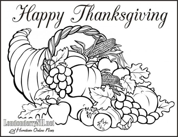 free thanksgiving coloring pages printable # 16