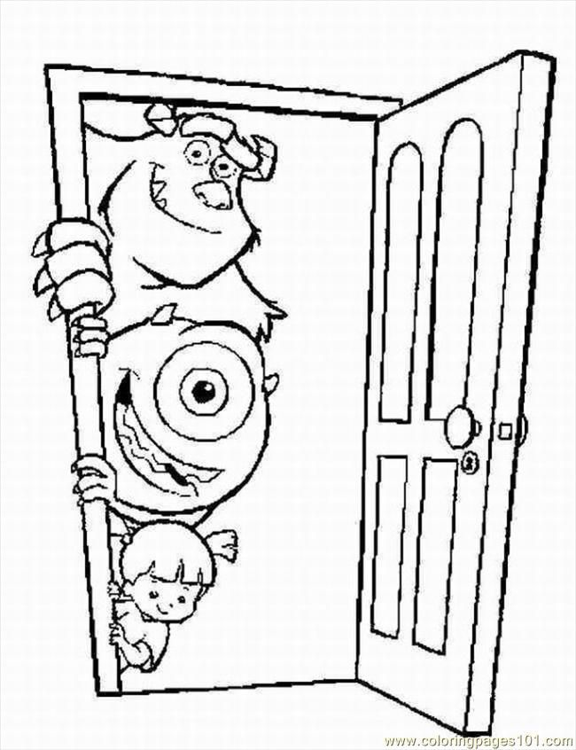 Monsters Inc Coloring Sheets : monsters, coloring, sheets, Monsters, Printable, Coloring, Pages,, Download, Clipart, Library