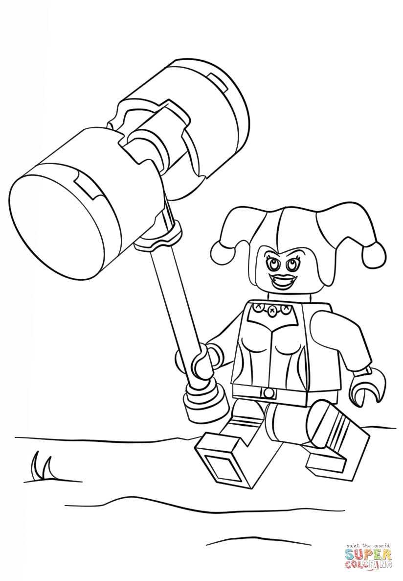 Lego Batman Harley Quinn Coloring Pages Clip Art Library