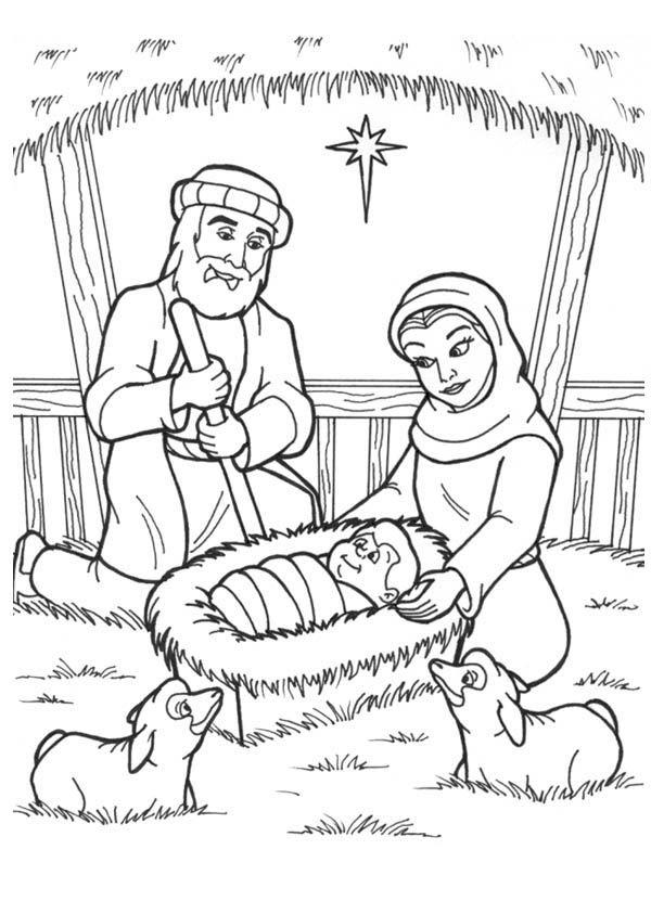 Jesus Birth Coloring Page : jesus, birth, coloring, Coloring, Birth, Jesus, Library