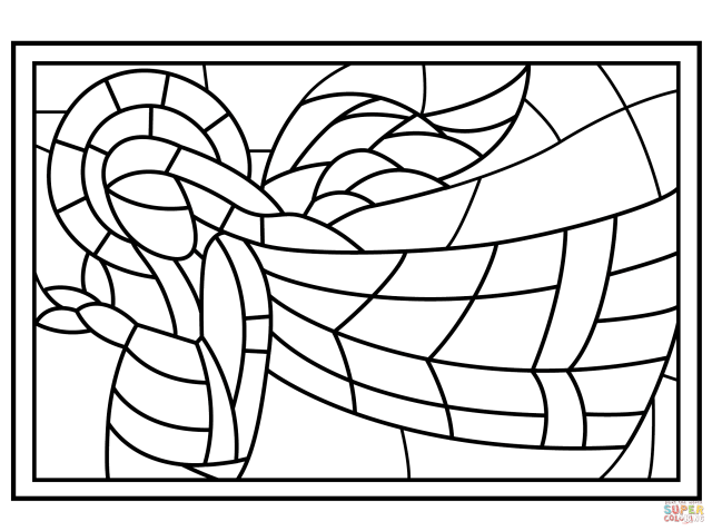 Free Free Printable Stained Glass Window Coloring Pages, Download