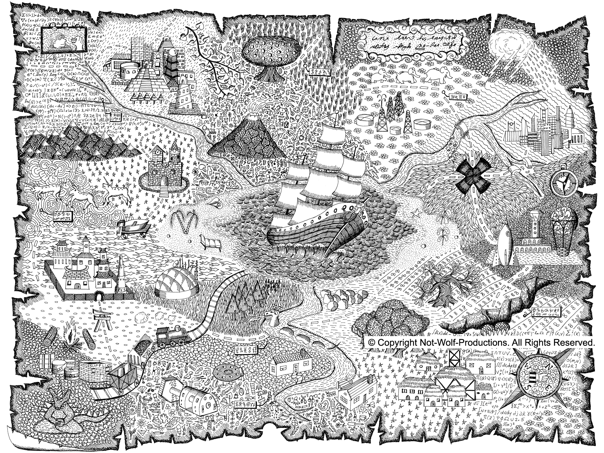 Free Pirate Map Coloring Pages Printable Download Free