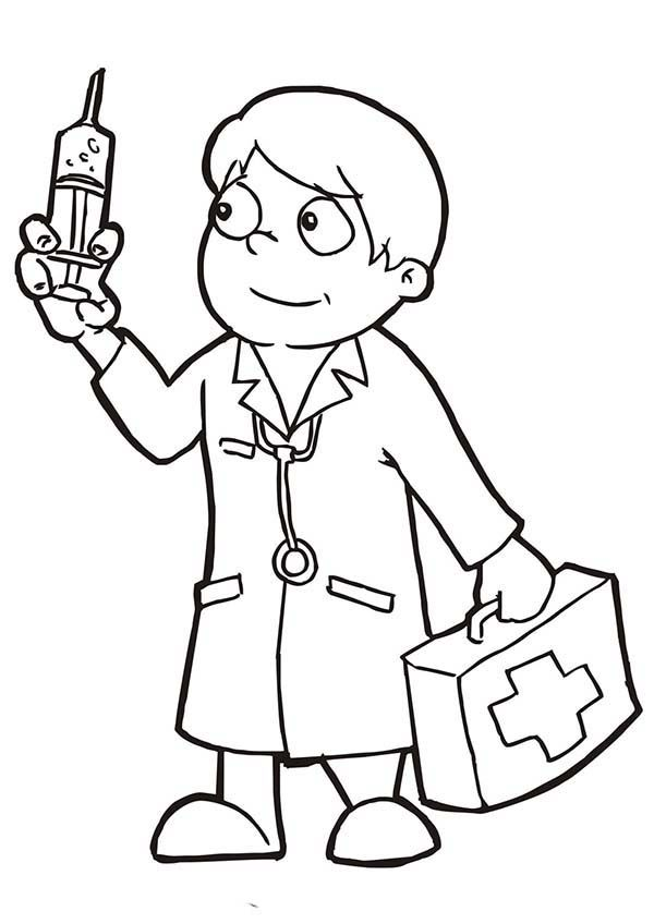 doctor coloring page # 5