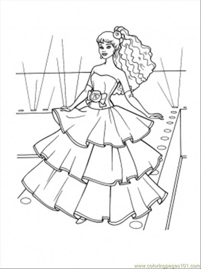 Free Dresses Coloring Pages Download Free Clip Art Free Clip Art On Clipart Library