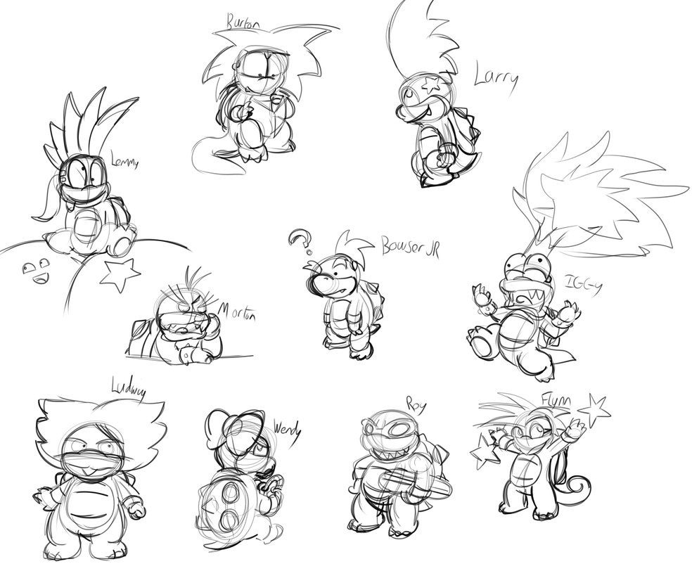 Free Koopalings Coloring Pages, Download Free Clip Art