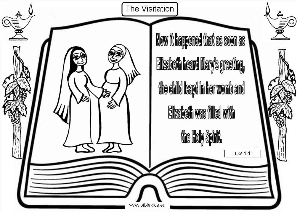 Free Elizabeth And Zechariah Coloring Pages, Download Free