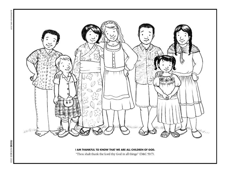 Free Kids Helping Each Other Coloring Page, Download Free