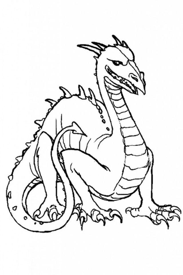 Komodo Dragon Coloring Page : komodo, dragon, coloring, Coloring, Pages, Library