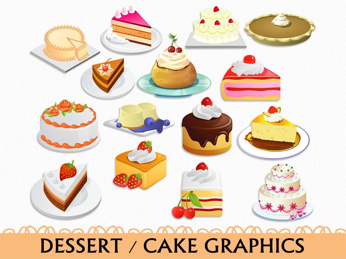 hight resolution of popular items for dessert clip art