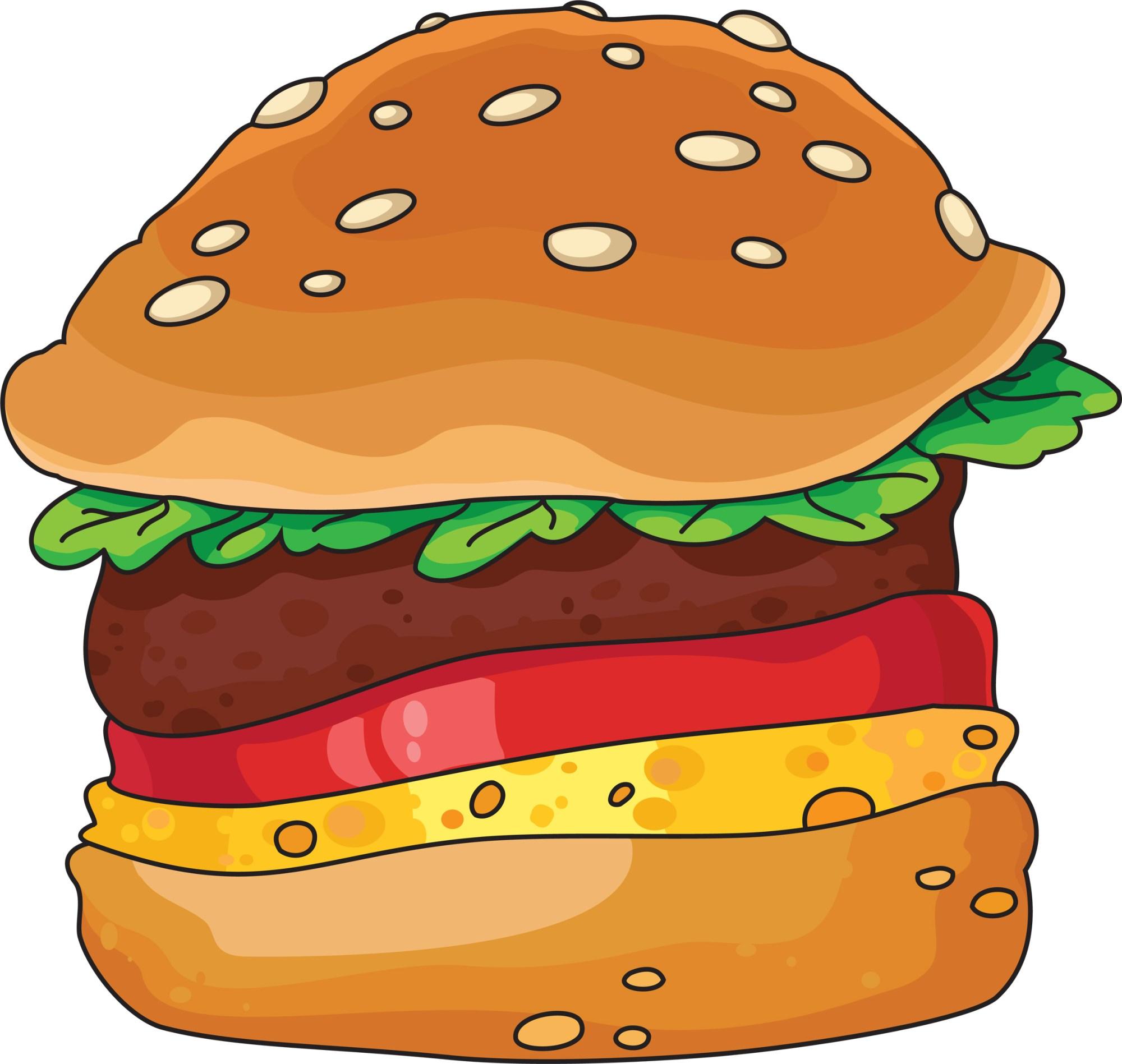 hight resolution of hamburger cartoon clip art 3 image