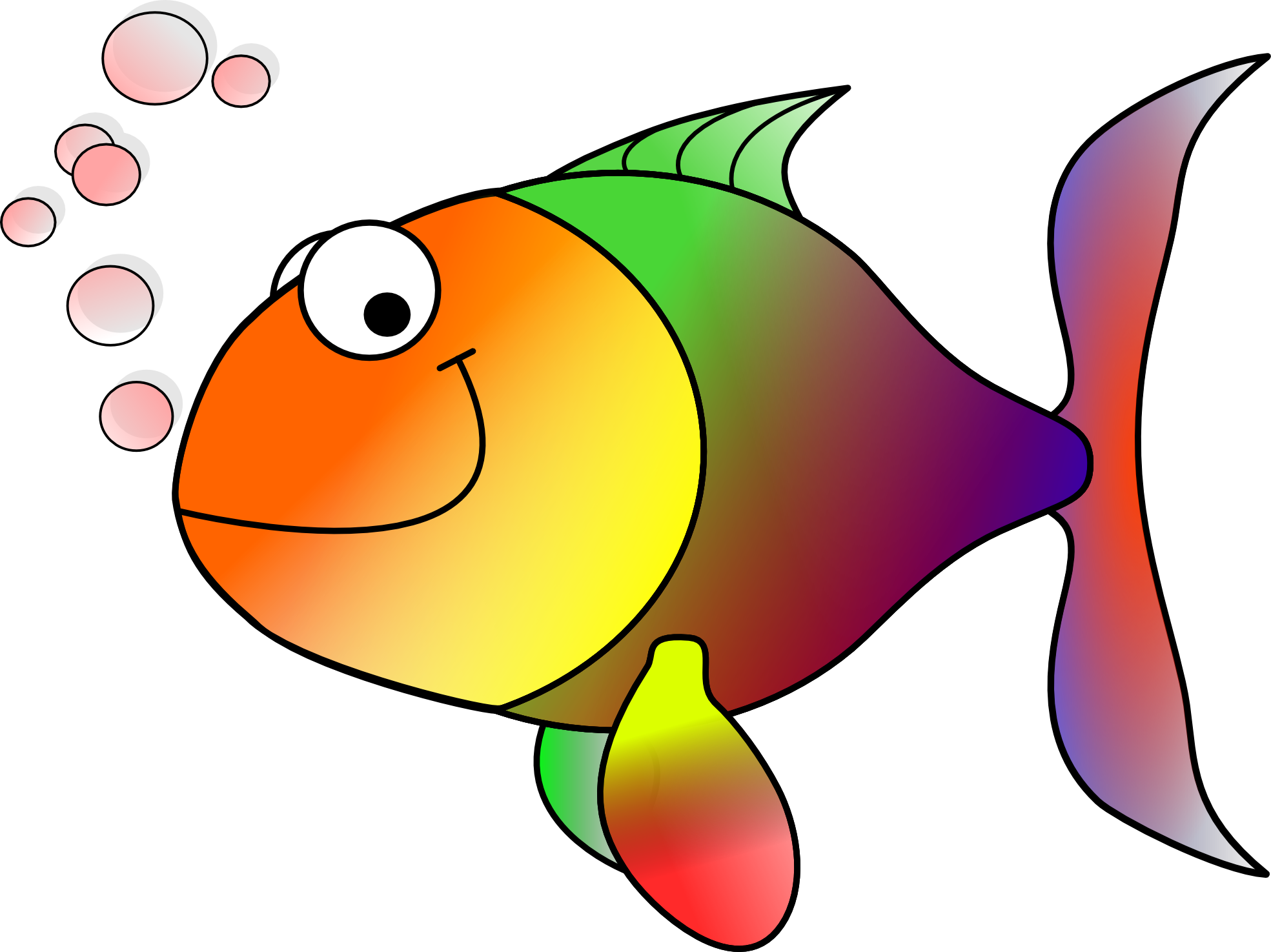 hight resolution of fish clip art free clipart image