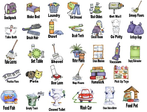 small resolution of household chores clipart