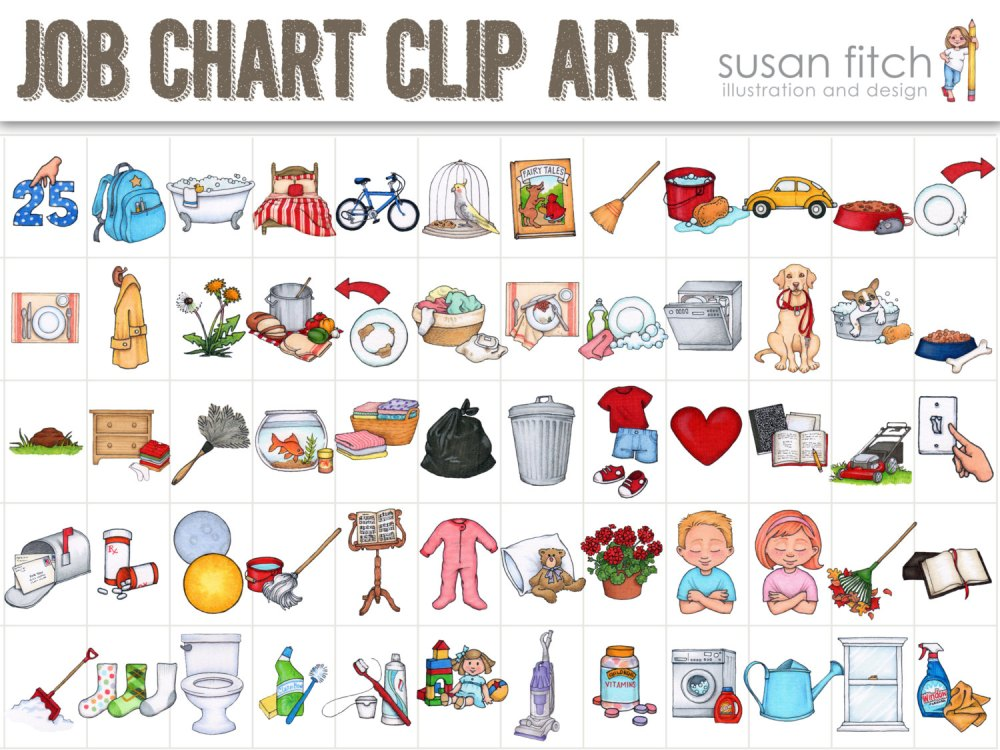 medium resolution of cute chores clipart