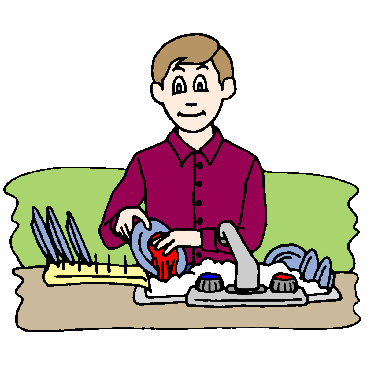 hight resolution of chores clipart