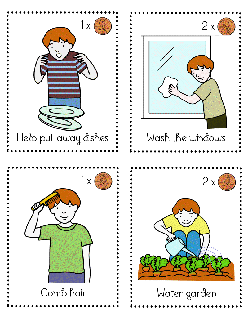 medium resolution of household chores pictures