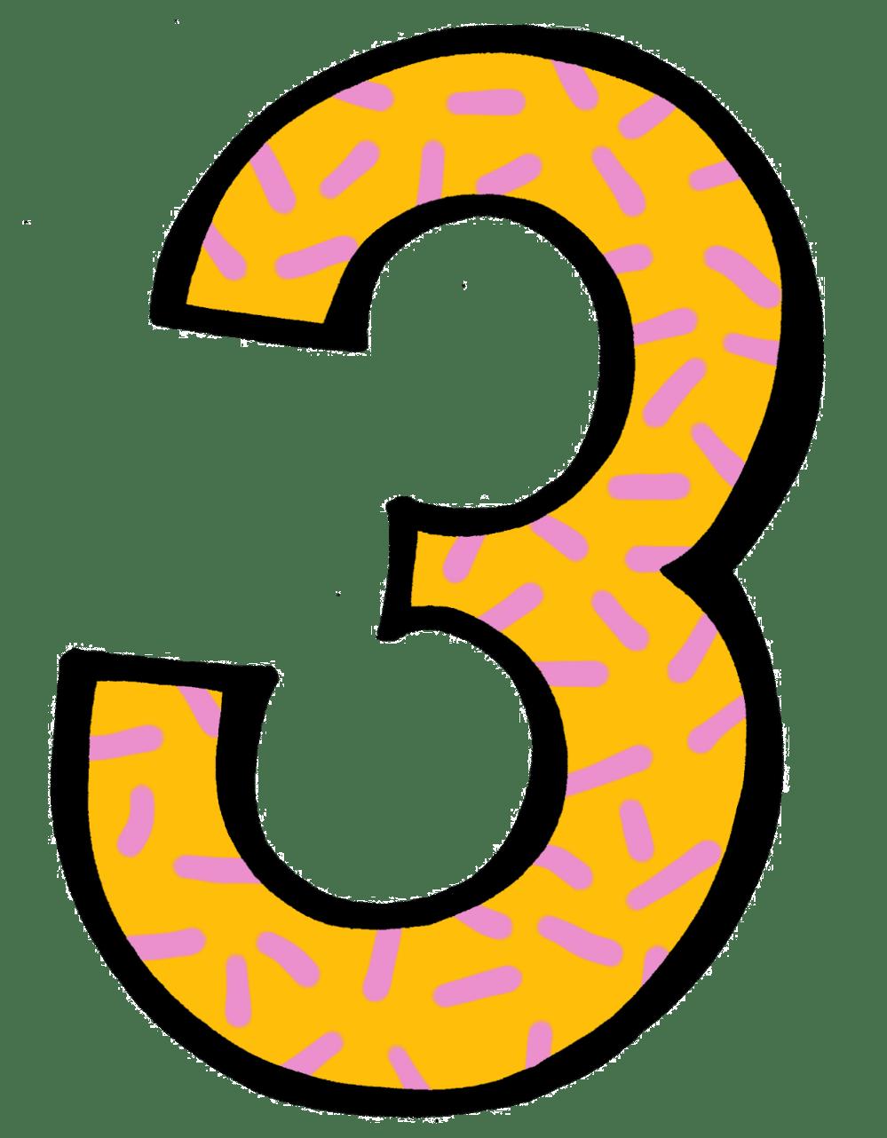 medium resolution of number 3 clip art