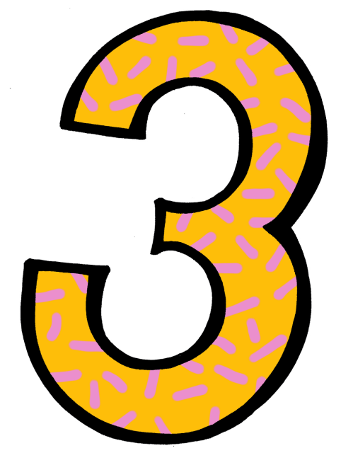 small resolution of number 3 clip art
