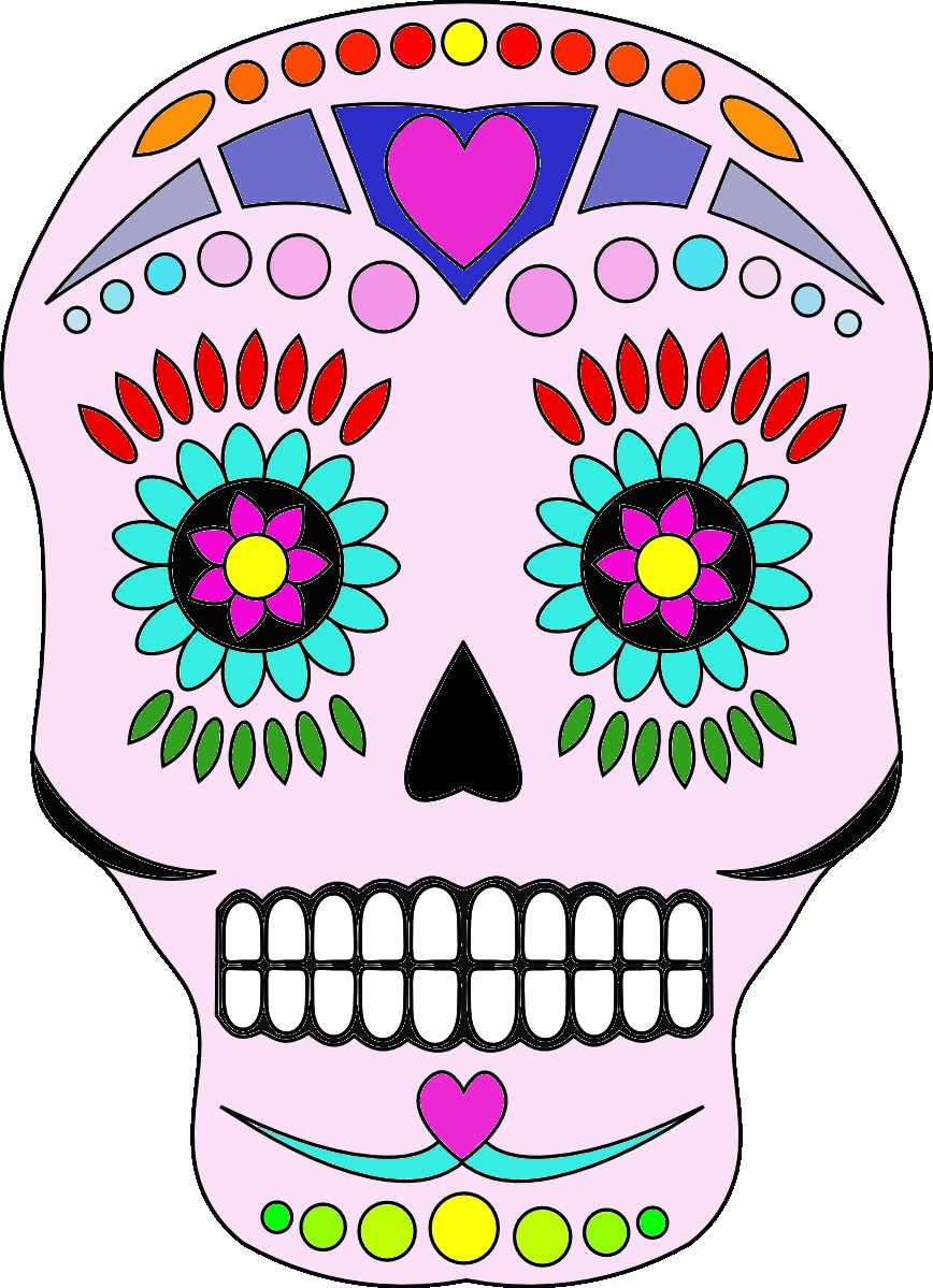 hight resolution of day of the dead clip art free