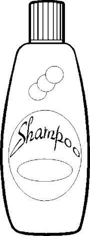 free coloring pages of shampoo