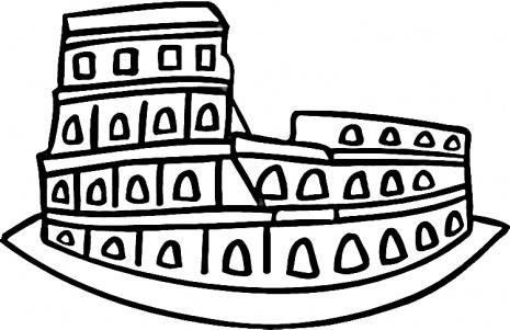 roman colosseum cartoon coliseum vector clip art