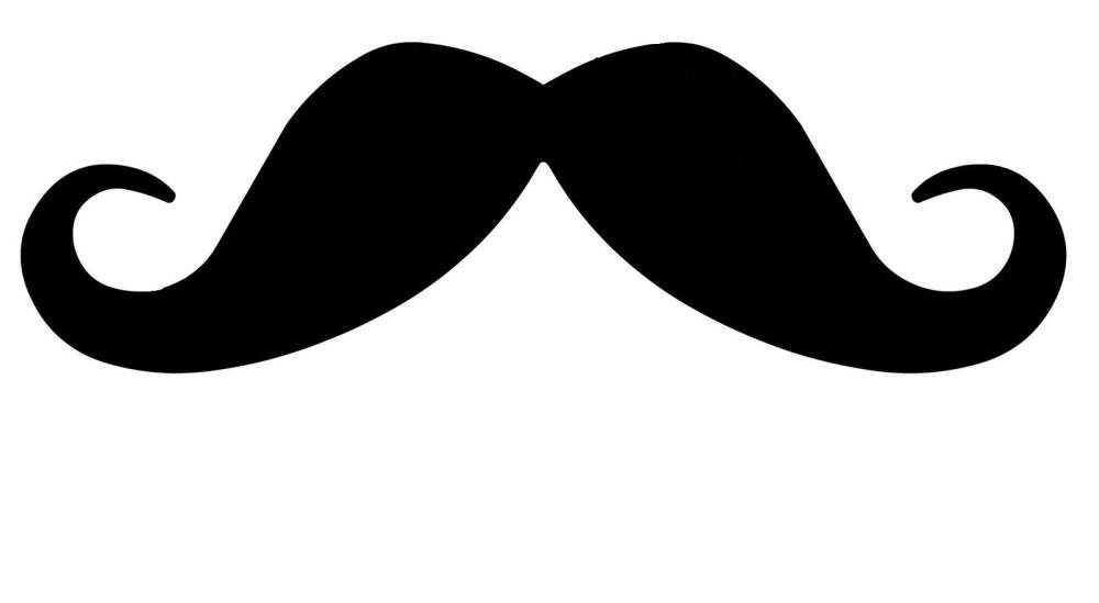medium resolution of handlebar mustache clipart