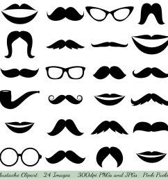 mustache cliparts [ 1500 x 1498 Pixel ]
