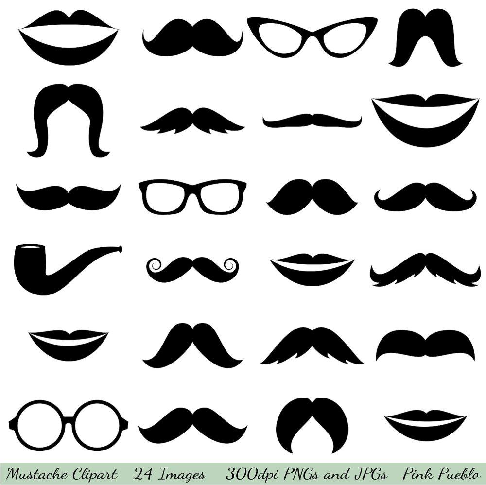 medium resolution of mustache cliparts