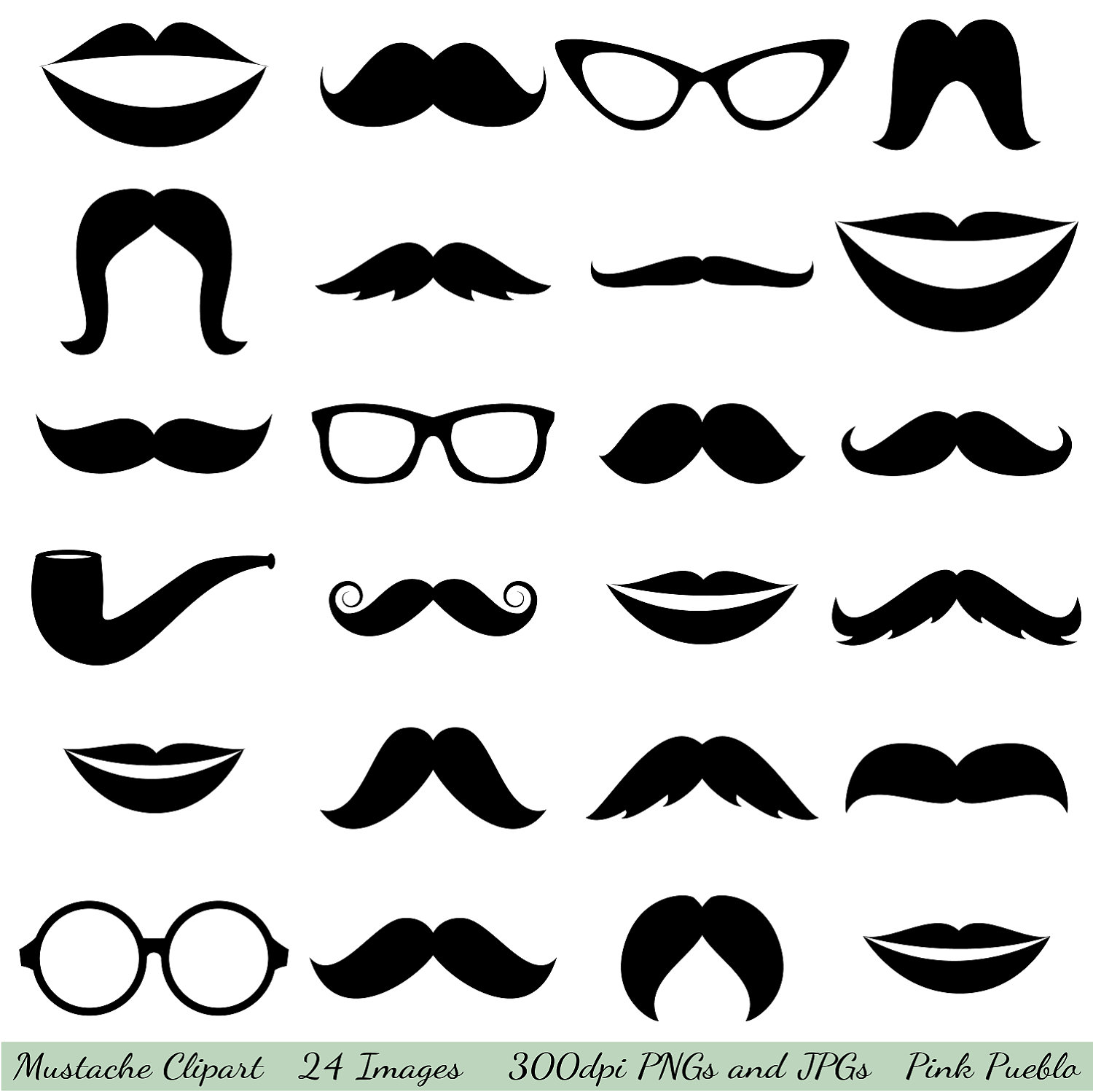 hight resolution of mustache cliparts