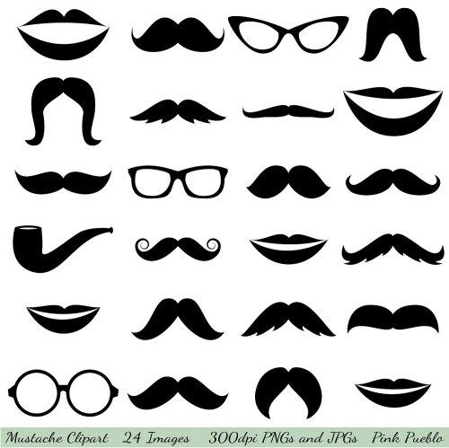 small resolution of mustache cliparts