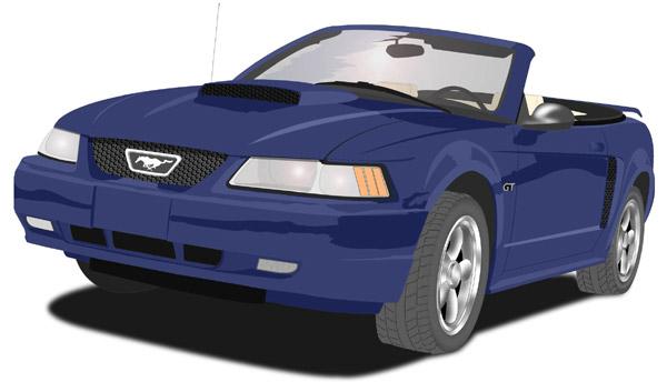 Blue Mustang Clipart Clip Art Library