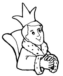 outline king clipart black and white Clip Art Library