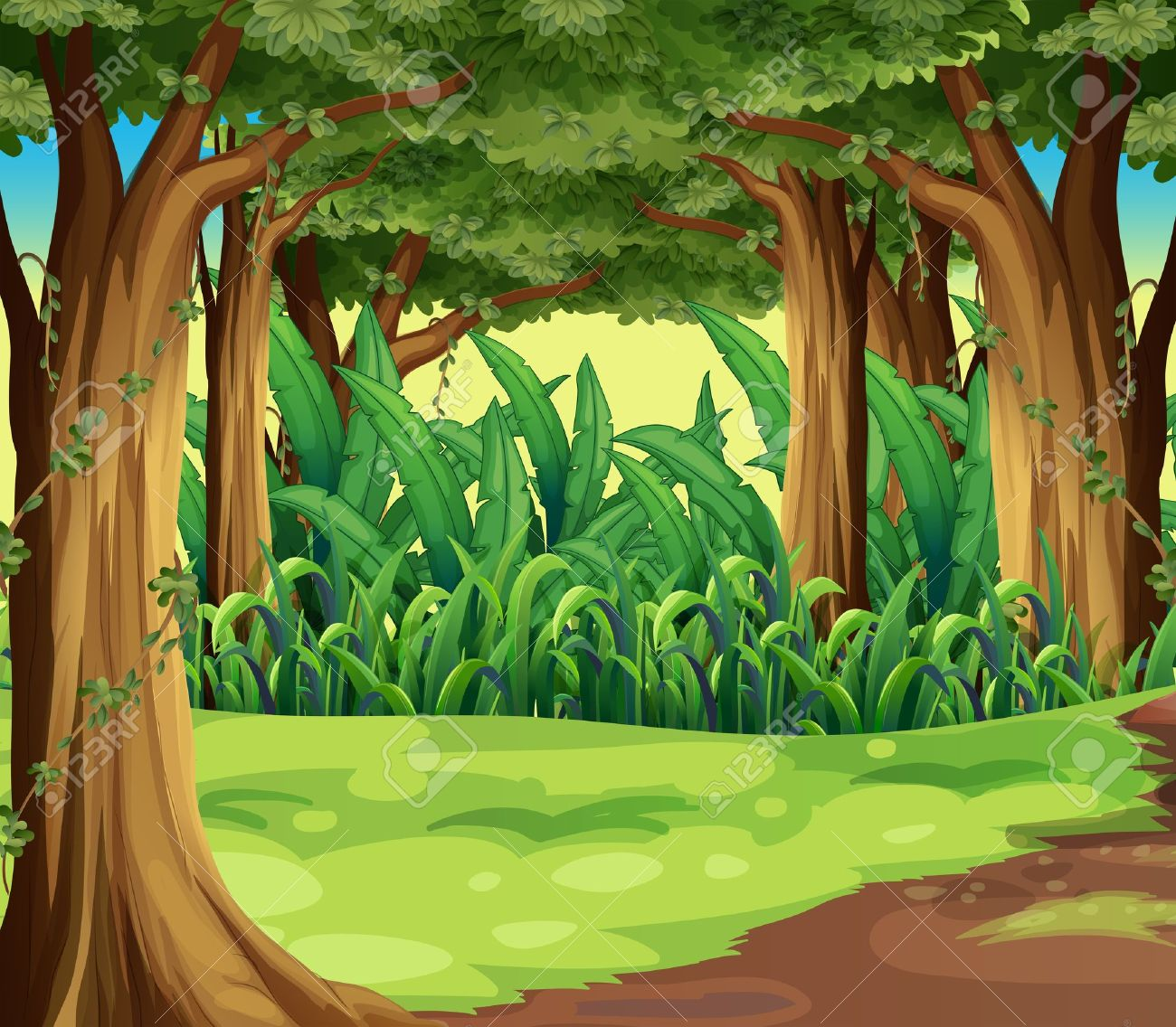 hight resolution of forest cliparts