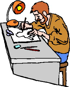 Gambar Orang Menggambar : gambar, orang, menggambar, Artist, Drawing, Clipart, Library