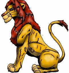 clip art lion [ 920 x 1051 Pixel ]