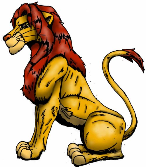 small resolution of clip art lion
