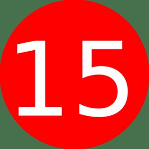cliparts number 15 - clip art life