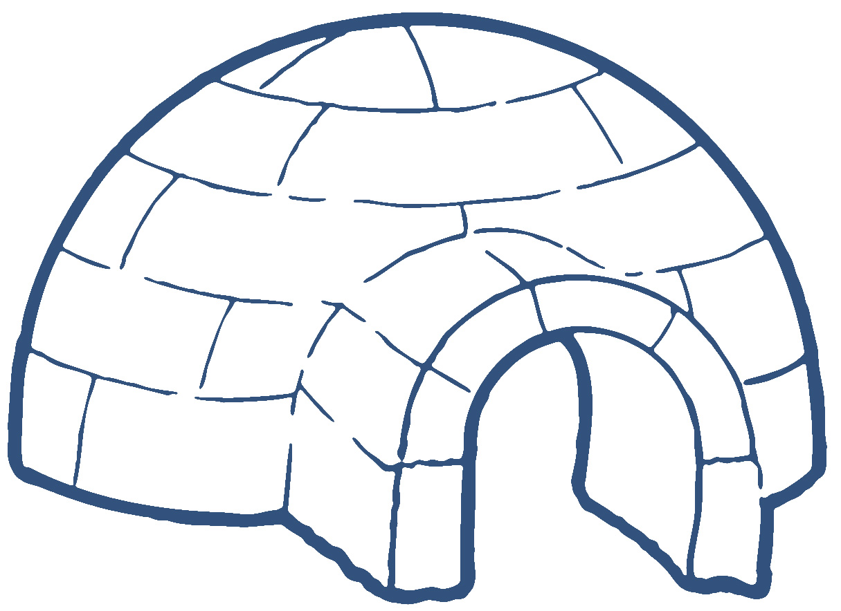 hight resolution of igloo clip art black and white