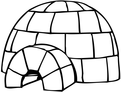 small resolution of igloo clip art